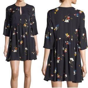 Joie Avari Silk Floral Babydoll Mini Dress